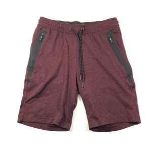 American eagle stretch waist shorts maroon size s